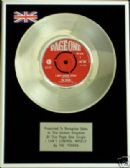 "THE TROGGS  7"" Platinum Disc - I CANT CONTROL MYSELF"